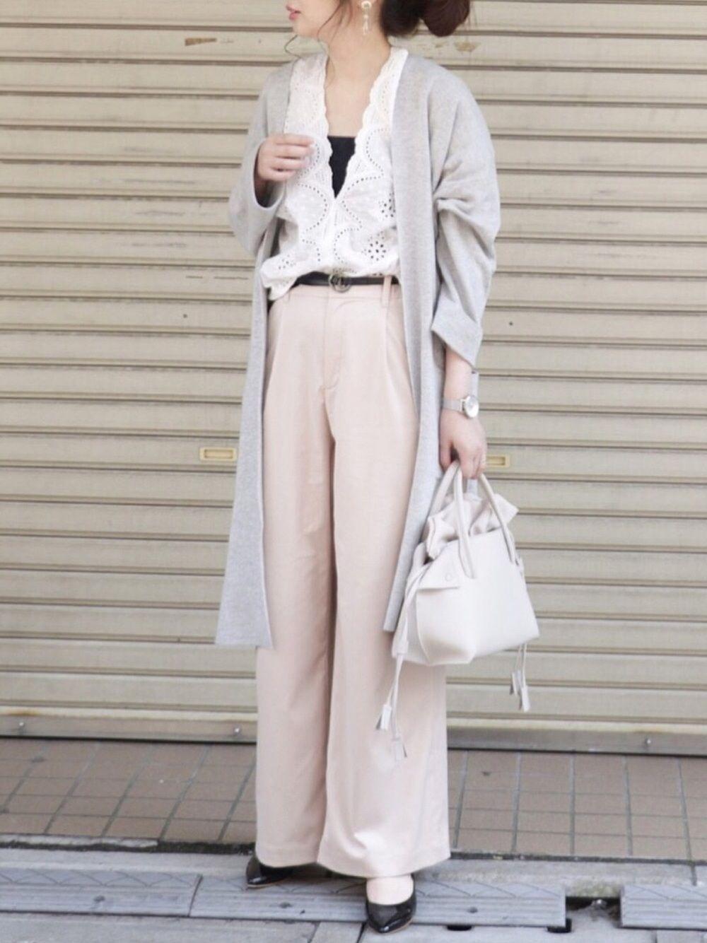 Maiko Jeanasisのカーディガンを使ったコーディネート Wear ファッション ファッションアイデア ロングカーディガン グレー