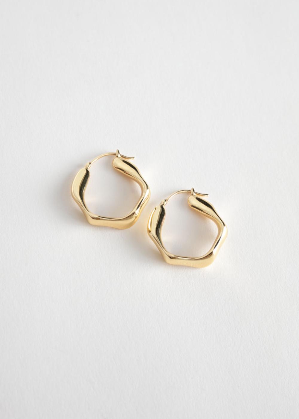 Wavy Hoop Earrings Stud Earrings Earrings Gold Hoop Earrings