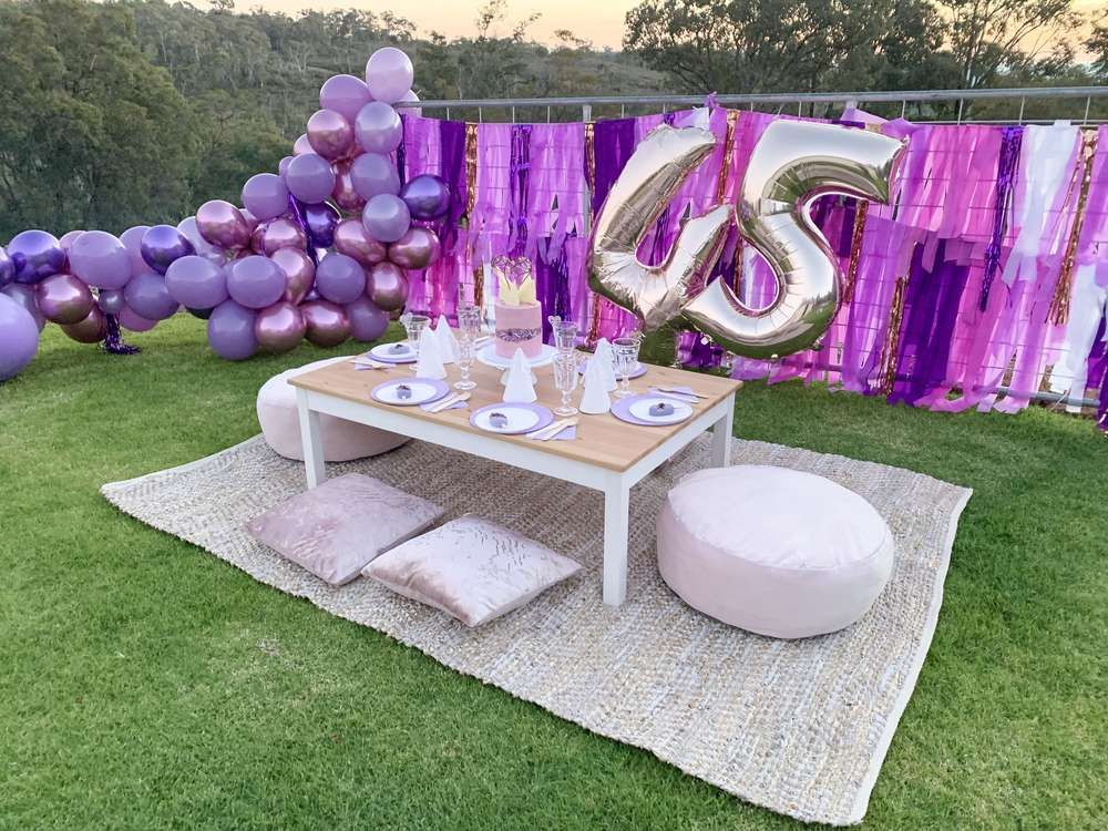Purple Gem Party Birthday Party Ideas Backyard birthday