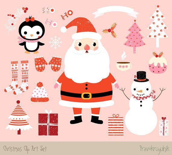 4fa23985c09f7 Kawaii Christmas clipart images