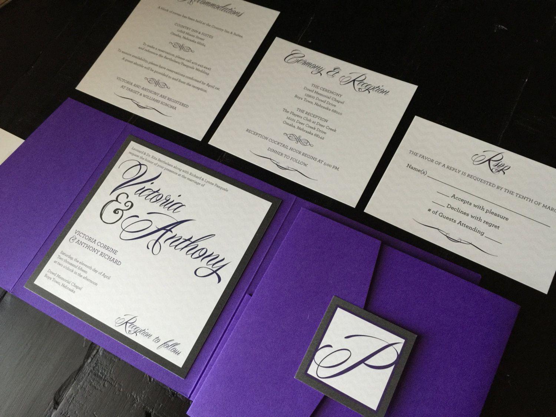 Custom Wedding Invitation Pocket Suite