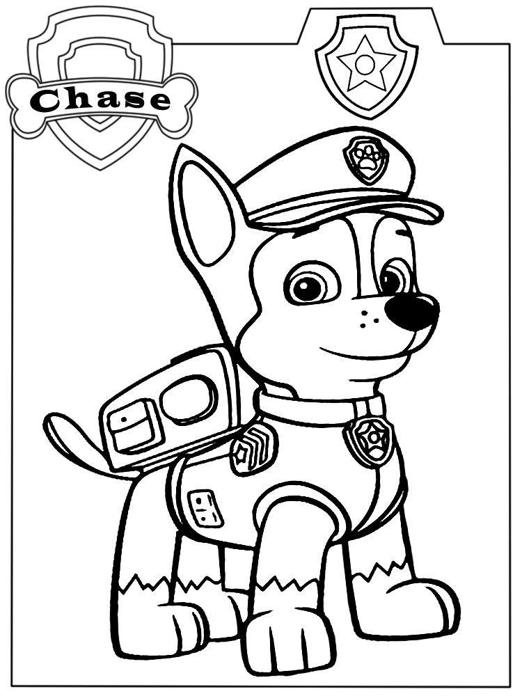 Dibujos Para Colorear Paw Patrol Para Ninas Y Ninos