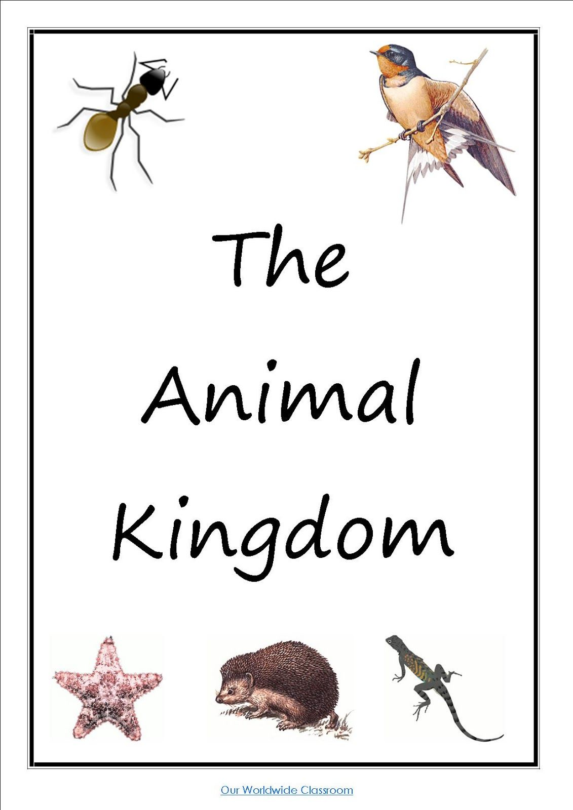Our Animal Kingdom Notebooks With Printable Materials