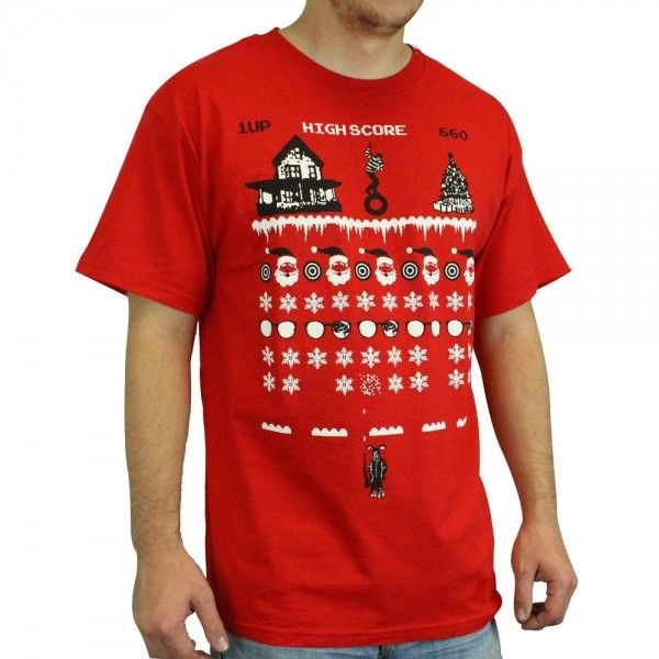 A Christmas Story 8 Bit Video Game Red Cotton T Shirt Video Game T Shirts Shirts A Christmas Story