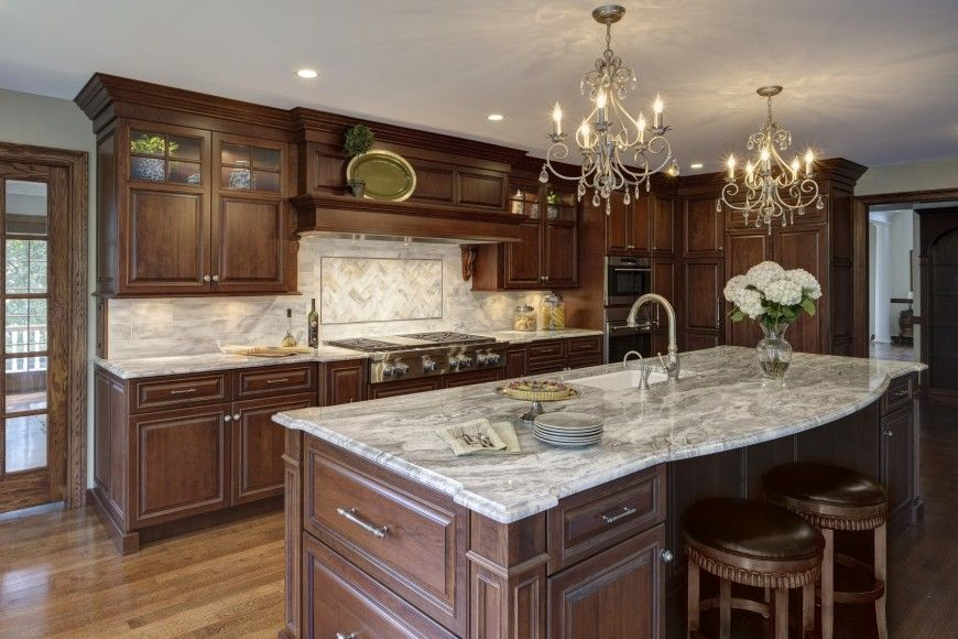 kitchen countertops quartz with dark cabinets. I Would Change A Few Things, But Like The Dark Wood And Light Countertops. Natural Hardwood Cabinetry Stands Over Lighter Toned Flooring, Kitchen Countertops Quartz With Cabinets
