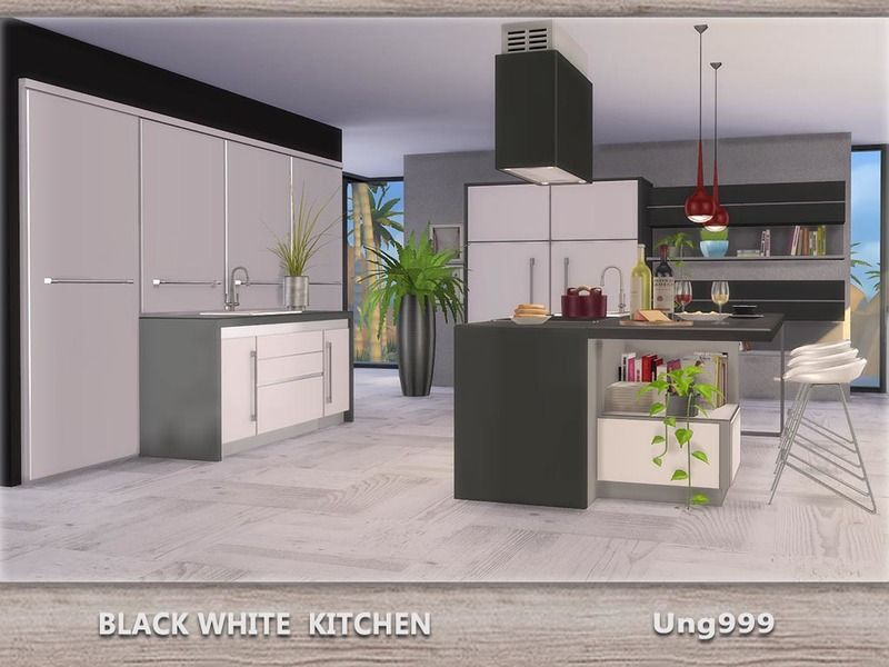 A Fresh And Modern Kitchen Set For Your Sims. Found In TSR Category U0027Sims 4  Downloadsu0027