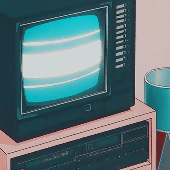 Anime aesthetic Blue Vsco filter C1 grunge tv sad