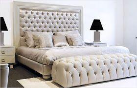 Schlafzimmer Bremen ~ Cama moderna tapizada blanco bremen beds room