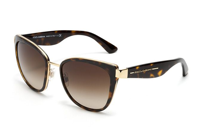 84cffc6f714 Women s havana metal sunglasses with cat-eye frame by Dolce   Gabbana  dg-2107