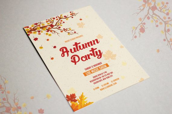 Autumn Festival Flyer Template Fall Party Flyer by TemplateStock - Invitation Flyer Template