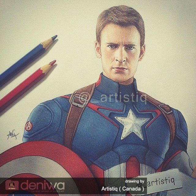 Art Gallery | Captain america drawing, Amazing drawings