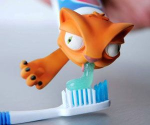 Make brushing your teeth a fun activity with the cat puke toothpaste dispenser. Great for cat lovers, this charismatic feline gives the toothbrush a nice thick and healthy coat of plaque fighting toothpaste so your teeth and breathe remain clean and fresh. Buy It $4.99 via BlackLapProducts.com