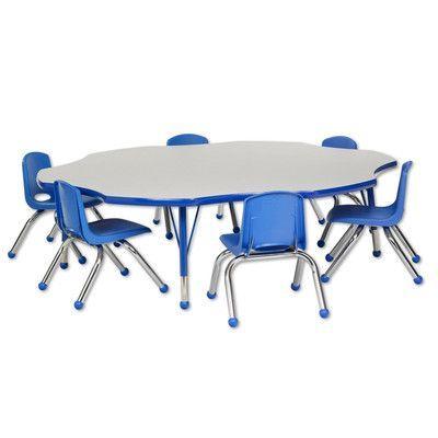 Ecr4kids 7 Piece Novelty Activity Table Amp 10 Quot Chair Set