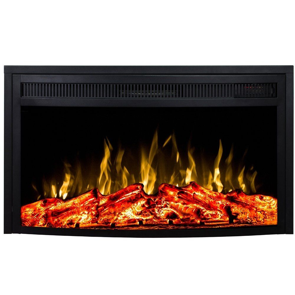 Regal Flame 28 Curved Ventless Heater Electric Fireplace Insert