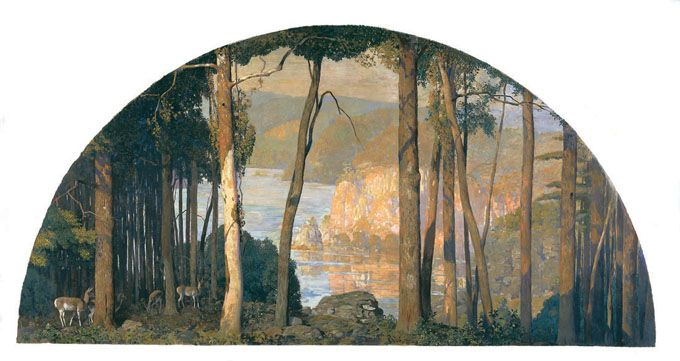 Daniel Garber, A Wooded Watershed  Michener Art Museum permanent collection