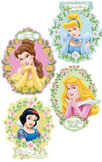 Disney princess wall decor kit 27 wall stickers mural for Disney princess mural stickers