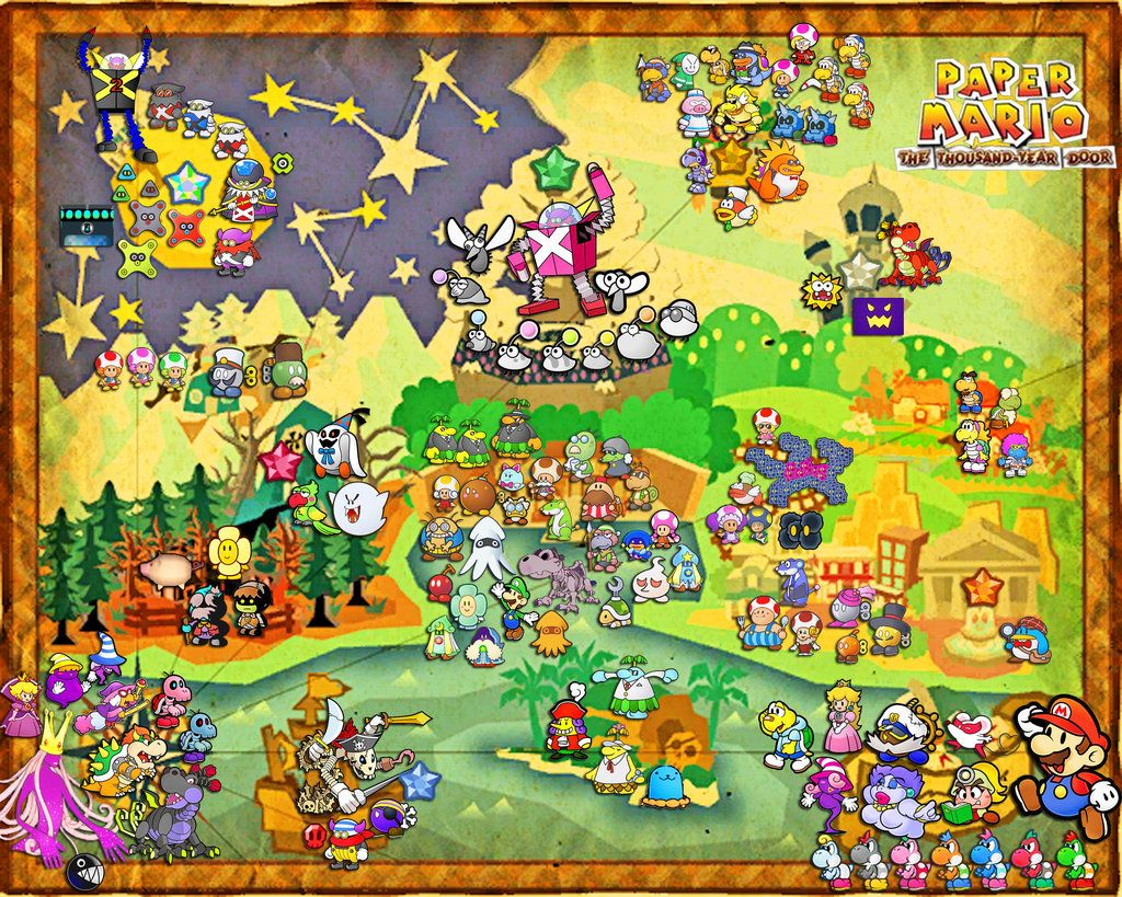 Paper Mario The 1 000 Year Door Map By Silverbuller Deviantart