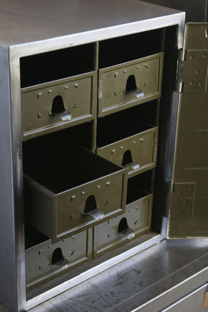 || Steel Cabinet with Six Internal Drawers | discoverattic