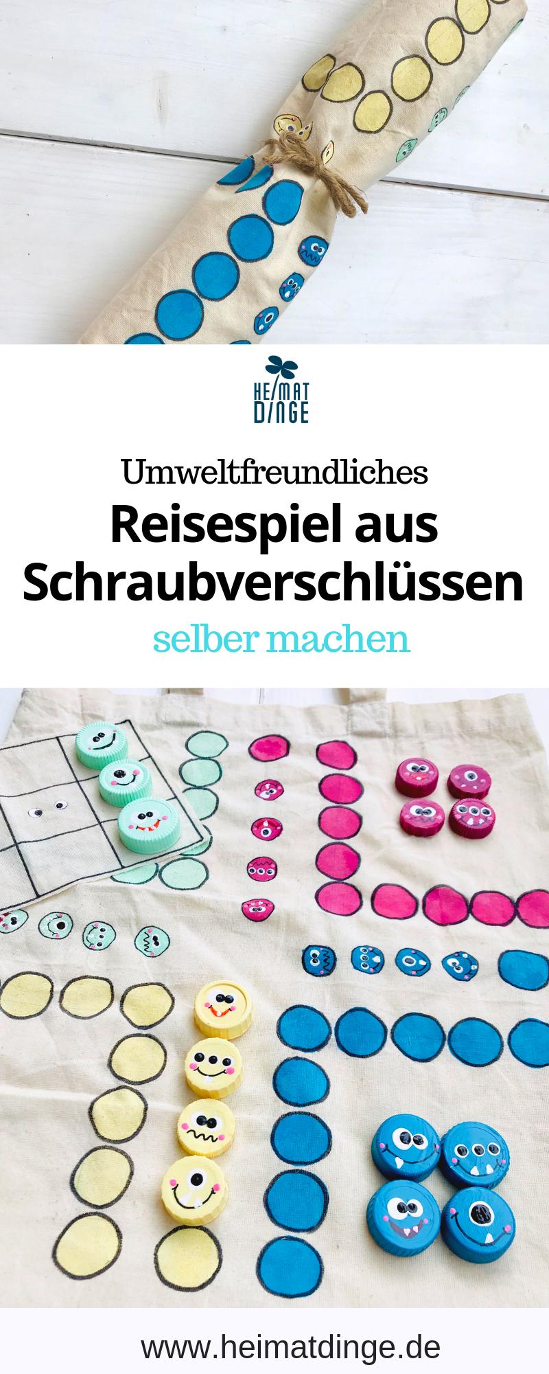 Spiele selber basteln: 3-in-1 Kinderspiele Set aus alter Baumwolltasche -