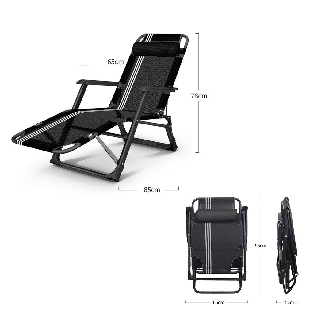 Gai Hua Home Chaise Lounges Folding Chair Siesta Bed Multifunctional Office Chair Color Black Find Out More By Visiting In 2020 Folding Chair Chair Office Chair