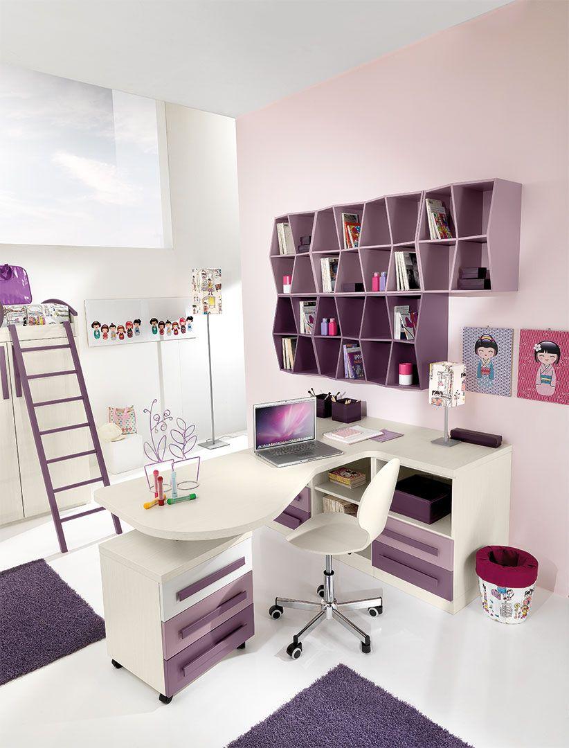 Camere per ragazze cm15 giessegi look book pinterest ragazze camerette e scrivanie - Camere da letto moderne per ragazze ...