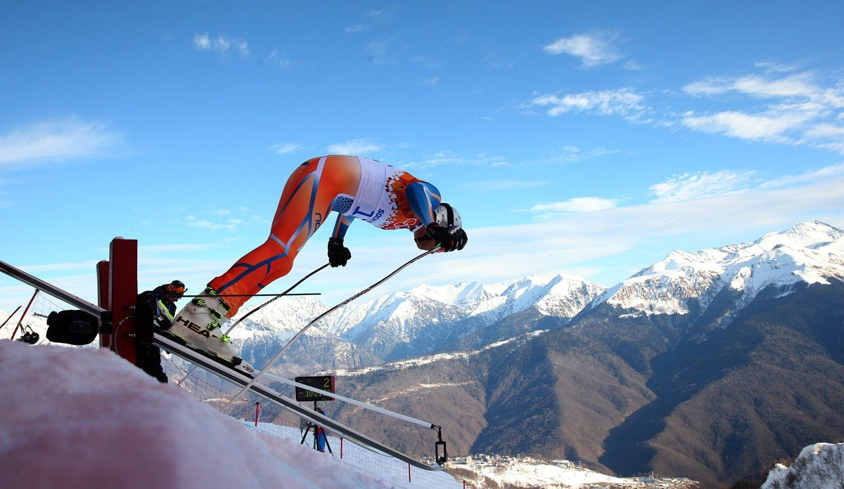 Aksel Lund Svindal poised to begin his run! Photo