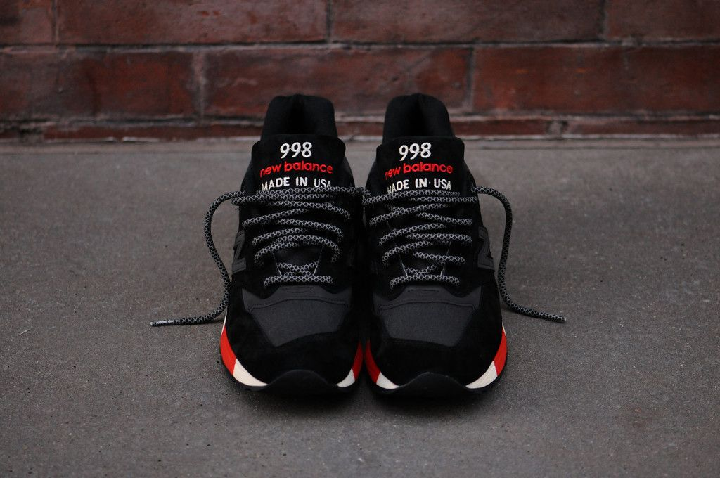 New Balance 998 - Black   Red (Re-issue Global Exclusive)  cd9f452eb8a