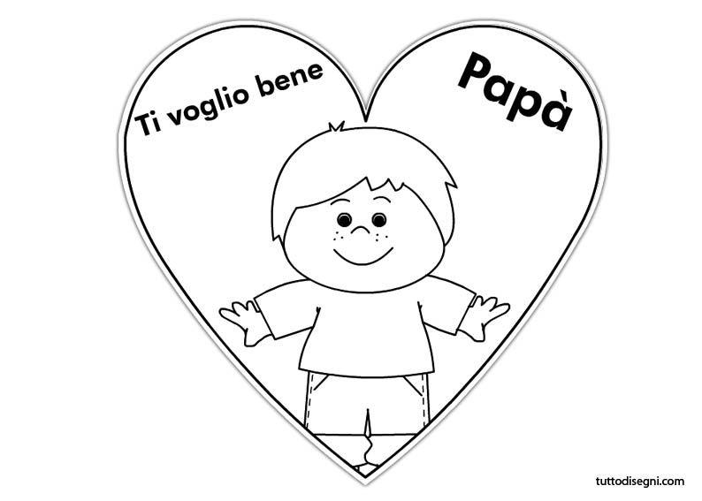 Biglietti festa del pap papa for Immagini festa del papa da colorare