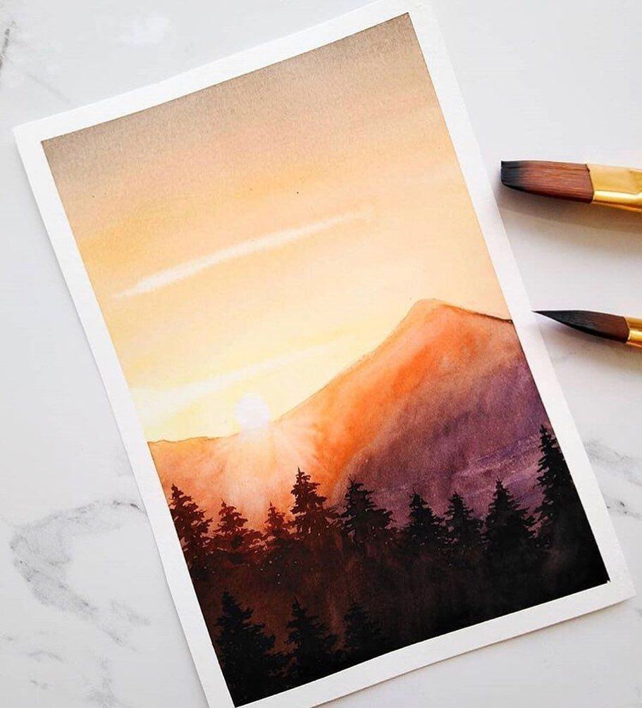 Watercolor Art Easy Watercolor Paintings Easy Watercolor