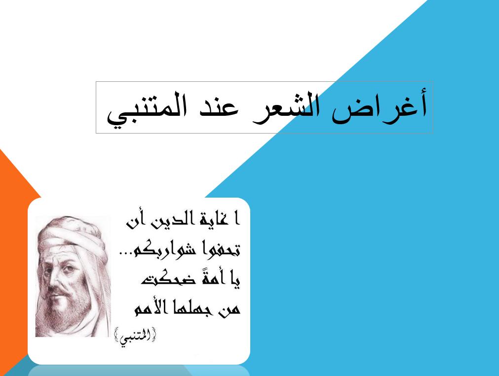 بوربوينت أغراض الشعر عند المتنبي للصف الثاني عشر مادة اللغة العربية Movie Posters Movies Poster