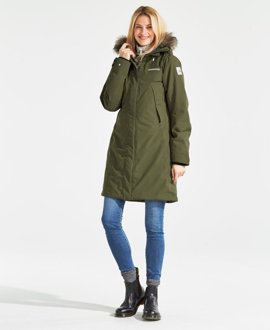 7fe713a4c9 Didriksons Nadine Womens Padded Parka - Peat. SPORTBABY | Winter ...