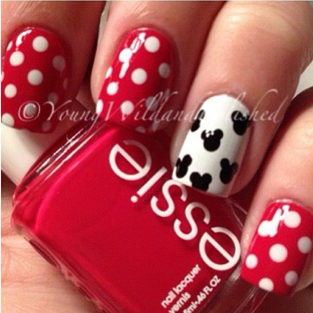 14 Ingenious Mickey Mouse Nail Art Designs | Diseños de uñas ...