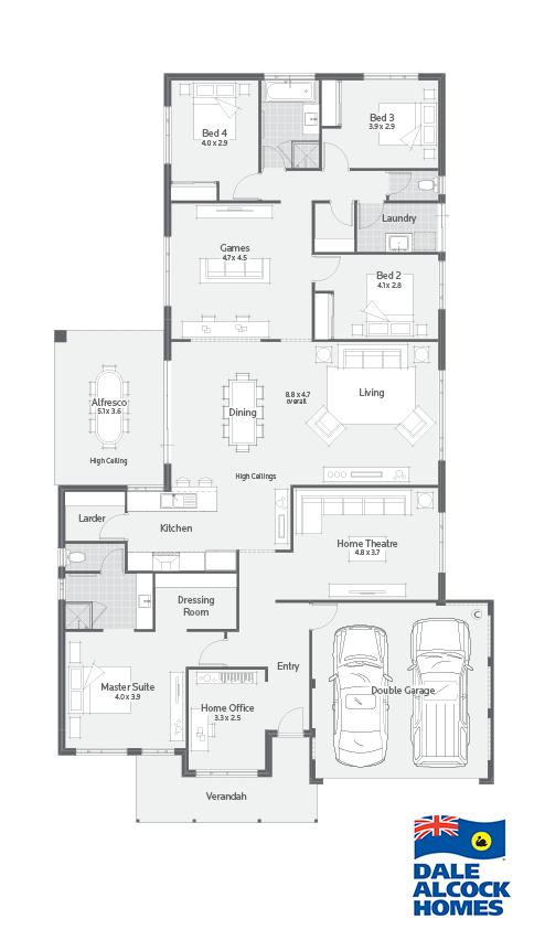 Stoneleigh Ii Dale Alcock Homes Home Design Floor Plans Floor Plan Layout House Blueprints