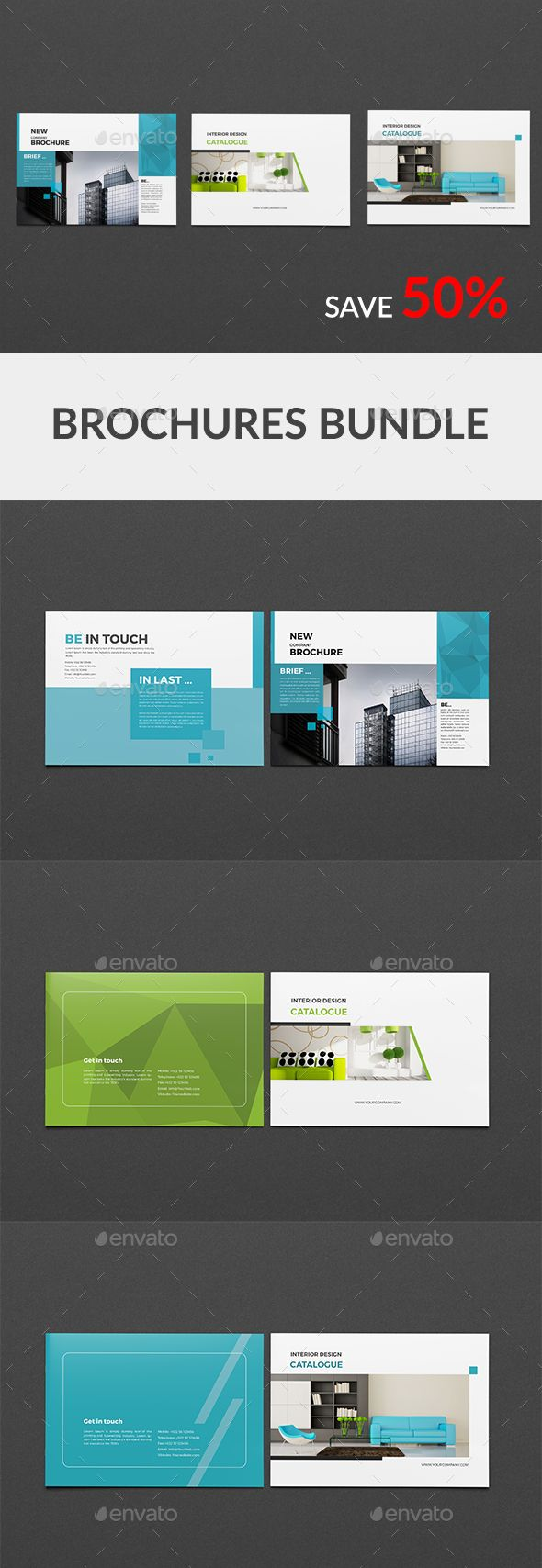 a5 brochure bundle corporate brochures design pinterest