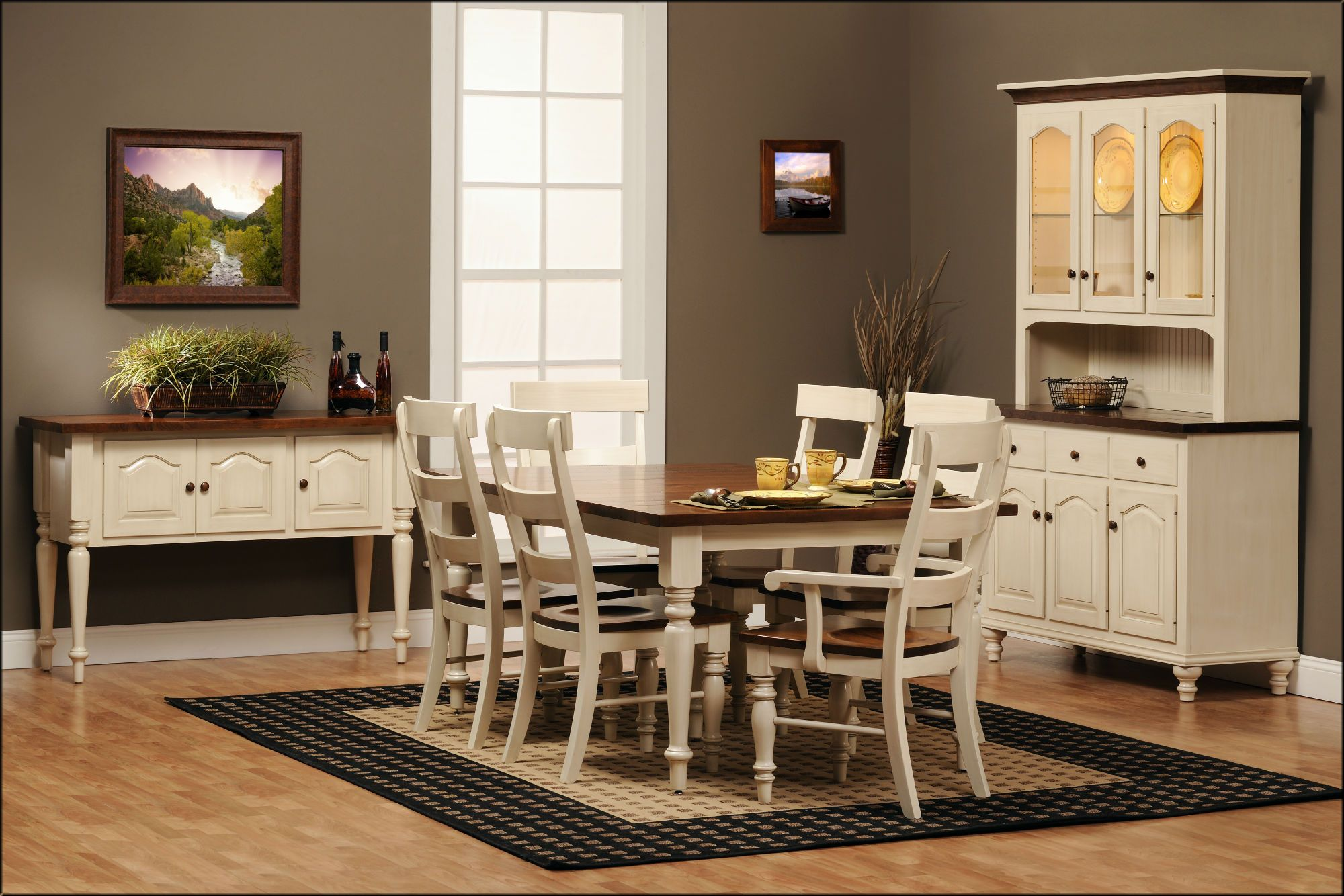 Albany Dining Collection Features A Sawmill Rustic Cherry Top With