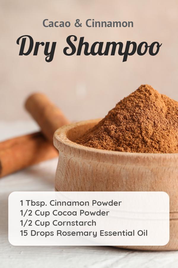 Diy Cacao Cinnamon Dry Shampoo Recipe For Dark Hair Brunettes Recipe Natural Dry Shampoo Dry Shampoo Diy Dry Shampoo