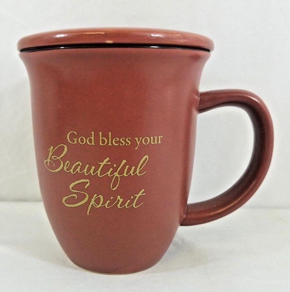 Abbey Press Bless Your Beautiful Spirit Coffee Mug With Lid Coaster Proverbs Abbeypress Spiritual