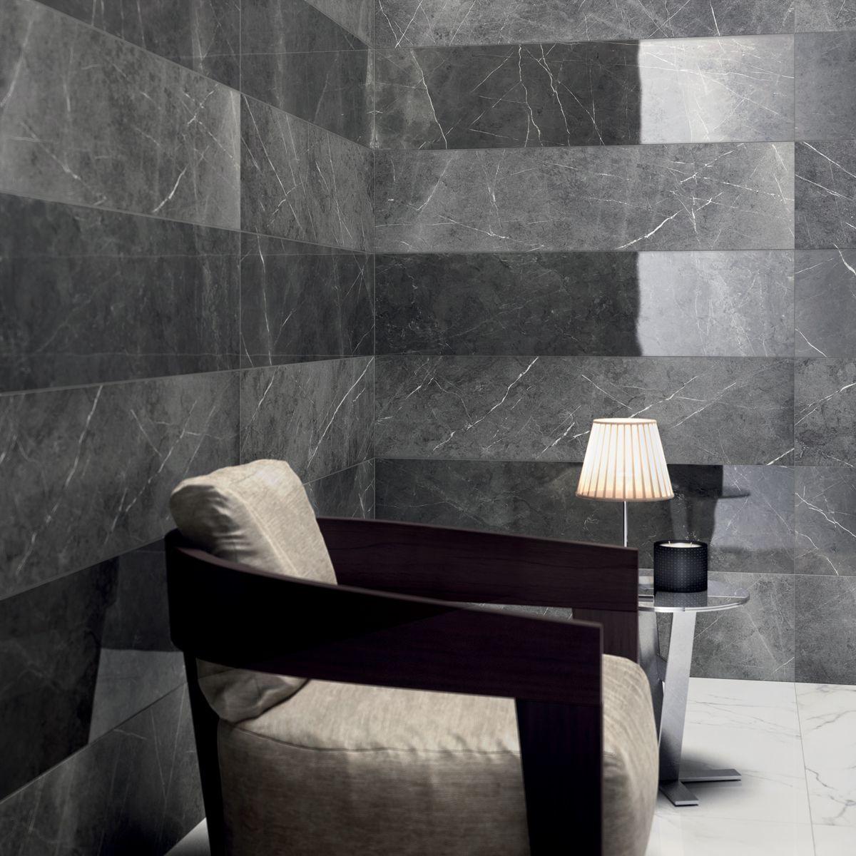 Rivestimento realizzato con sensi abkemozioni pietra grey lux e rivestimento realizzato con sensi abkemozioni pietra grey lux e sabl nel formato 30x120 cm ceramic tile doublecrazyfo Choice Image