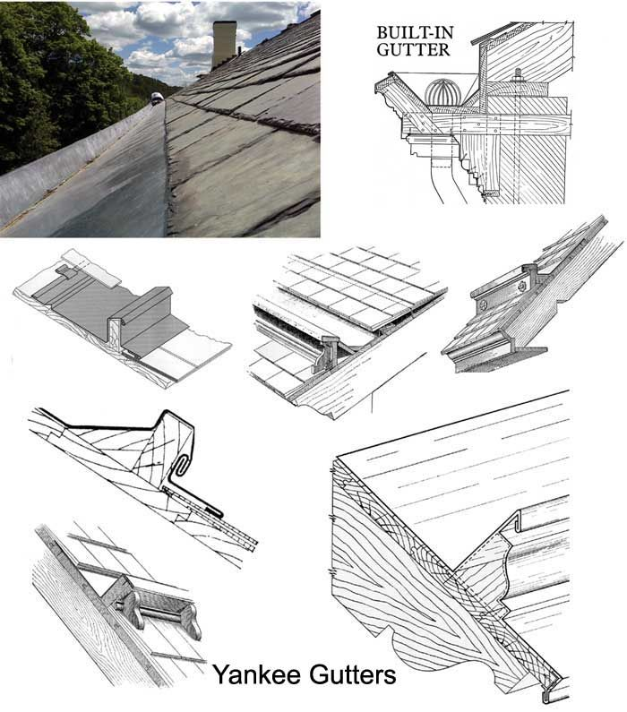 Traditional Roofing Magazine Issue 8 Yankee Gutters On Slate Roofs Gutters Fibreglass Roof Roof