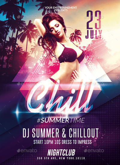 Summer Chillout Party | Psd Flyer Template by RomeCreation on ...