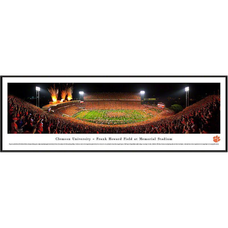 Clemson tigers 13 x 40 memorial stadium standard frame