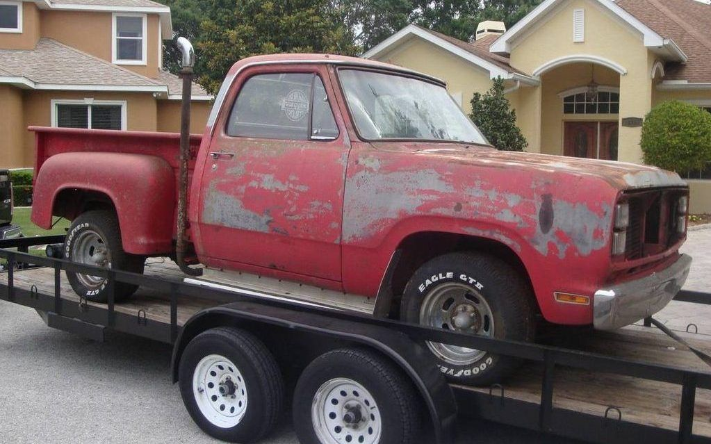 Factory Muscle Truck: 1979 Dodge Lil\' Red Express - http://barnfinds ...