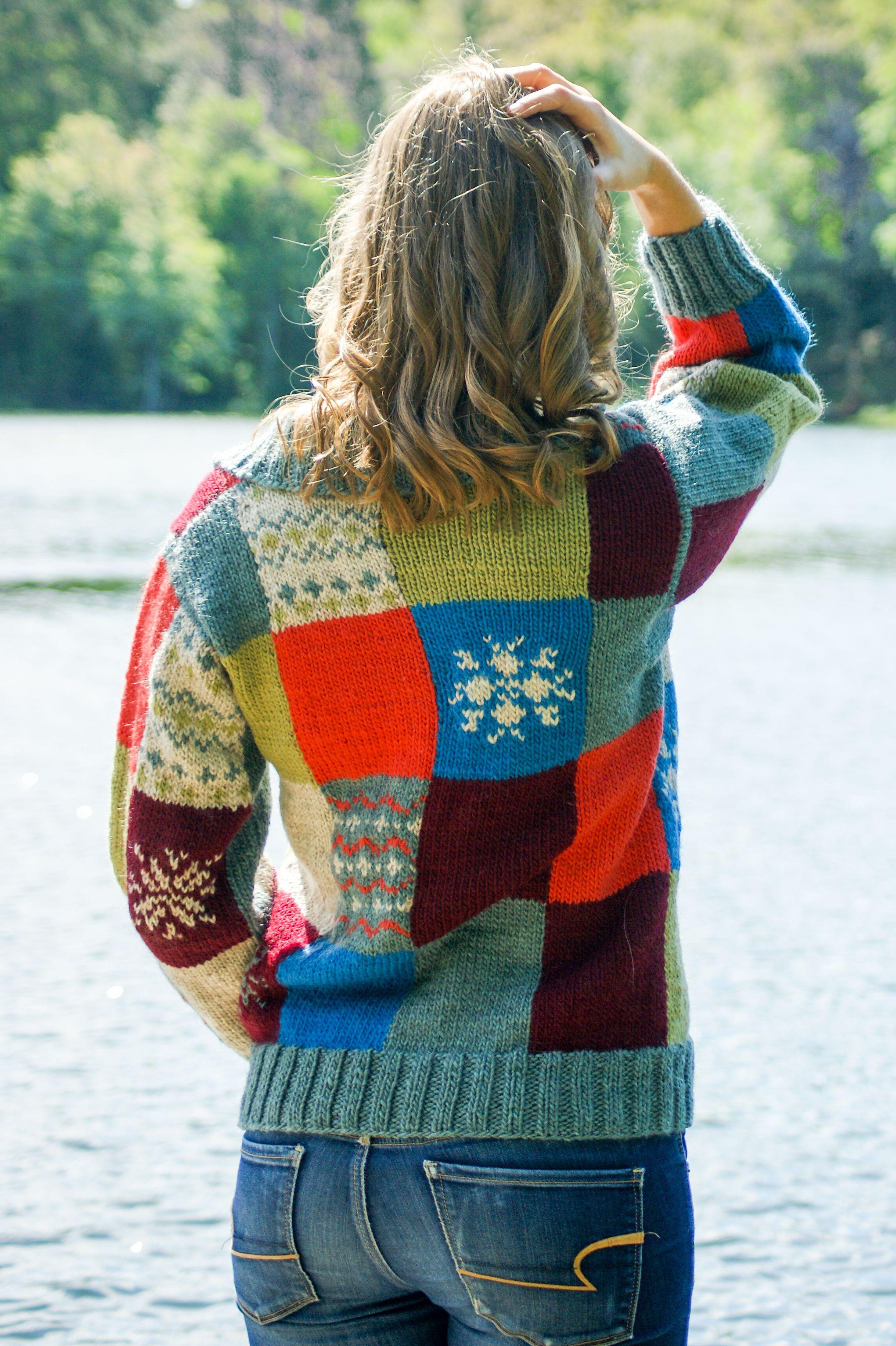 Patchwork Meadow Jacket | Knit cardigan pattern, Sweater ...