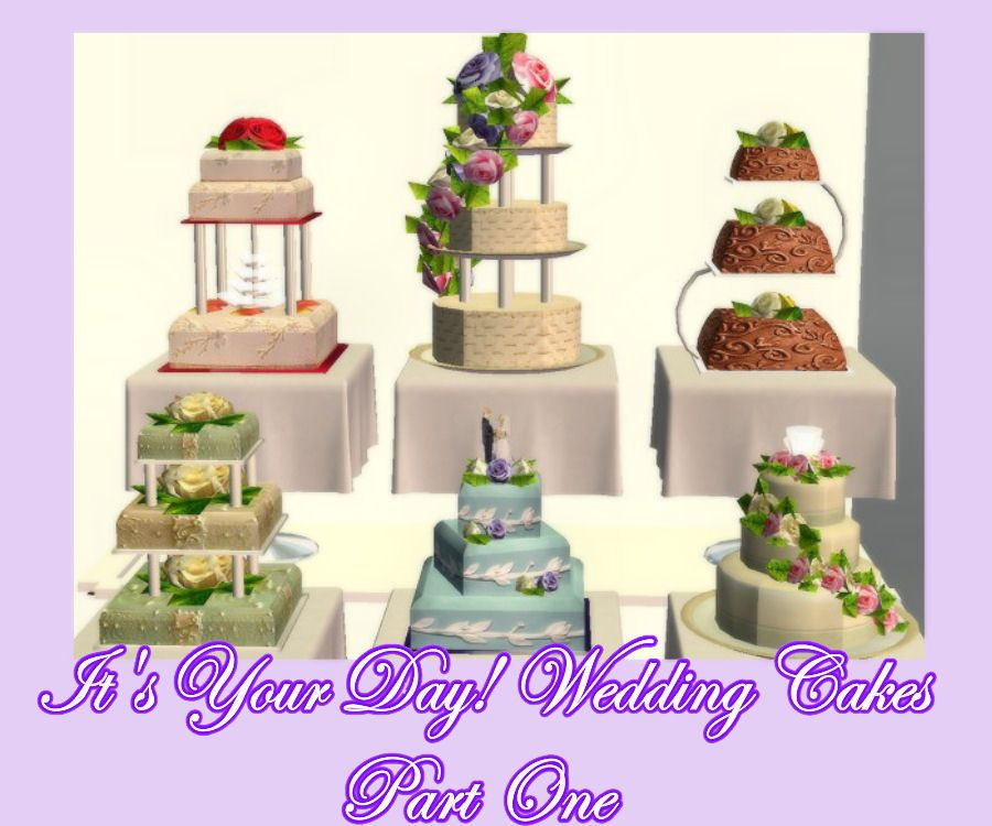 Sims 4 Wedding Cake.The Sims 2 It S Your Day Set One Of 6 Delicious Wedding Cakes