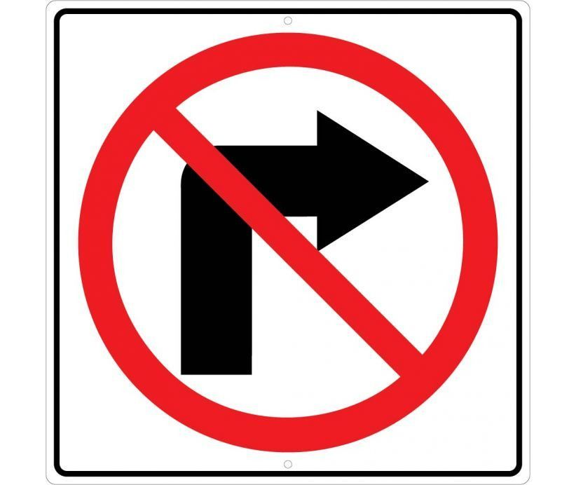 No Right Turn Symbol 24 Arrow Symbol Symbols And Parking Signs