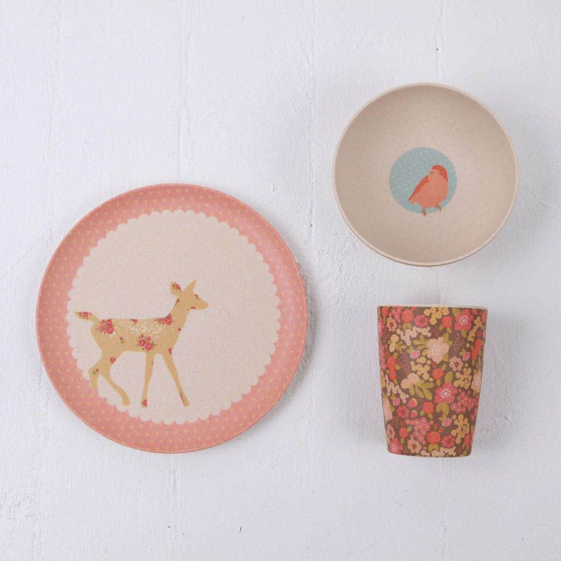 These Products Are So So Gorgeous Love Mae Kids Dinnerware Bamboo Dinner Set Woodland Critters Kids Dinnerware Kids Plates Kids Tableware