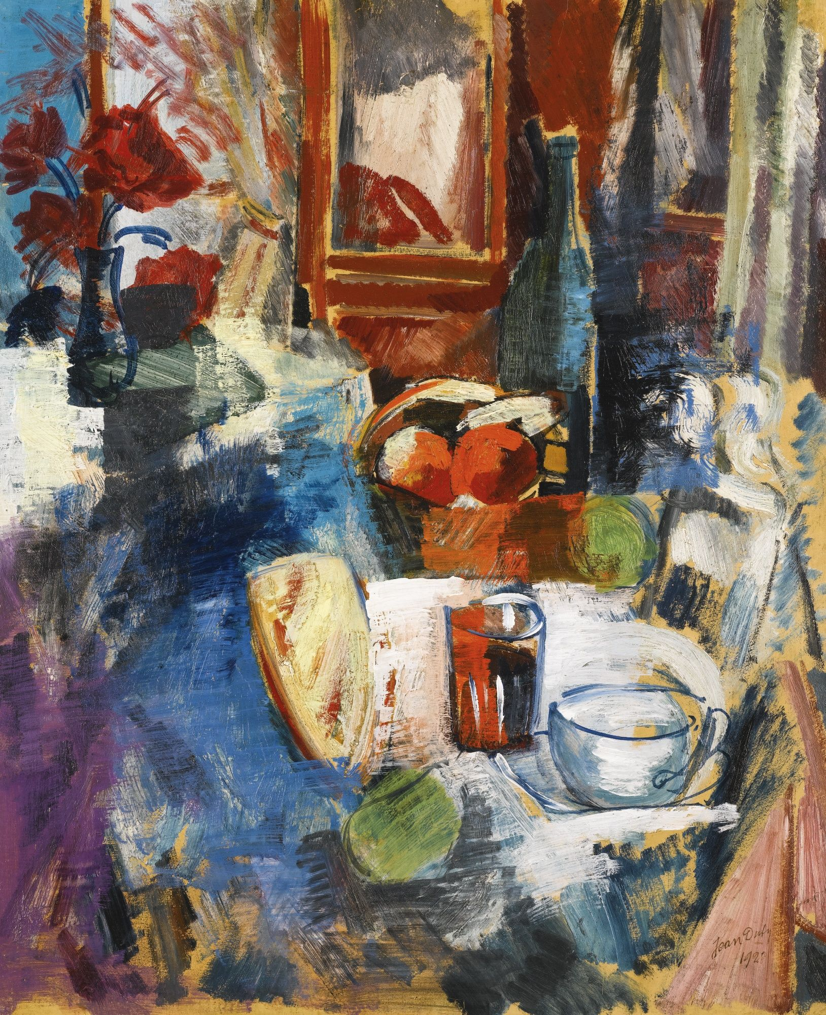 Nature Morte Au Panier De Fruits 1928 By Jean Dufy Obras De