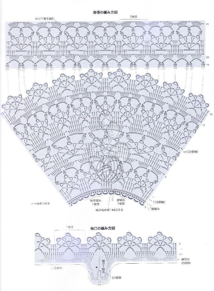 Jersey Top Verano Patron - Patrones Crochet | vestidos de baño ...