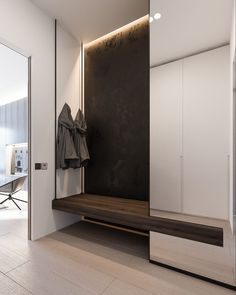 a minimalist family home with a bright bedroom for the kids furnituzzz flure. Black Bedroom Furniture Sets. Home Design Ideas