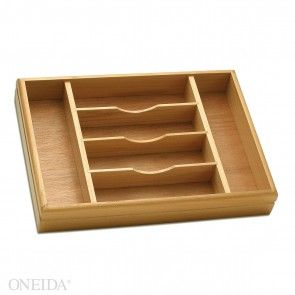 Oneida Wooden Storage Caddy